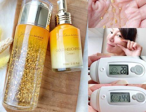 實測|JS黃金蠟菊精華組合|可以當眼霜用!一擦有感保濕肌膚召喚澎彈水嫩